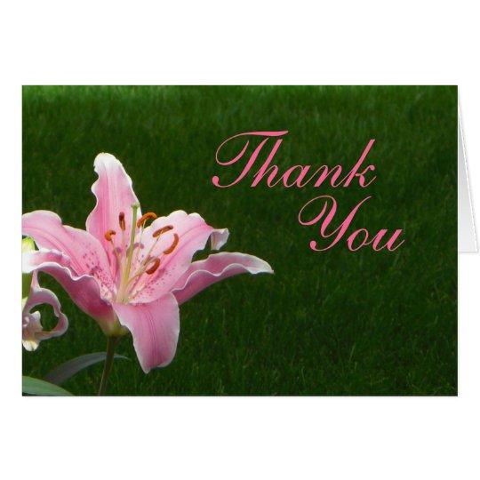 Tarjeta El lirio rosado le agradece