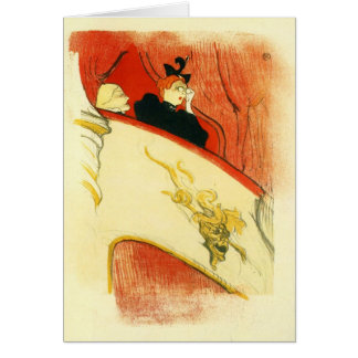 Tarjeta El loge con un mas del oro por Toulouse-Lautrec