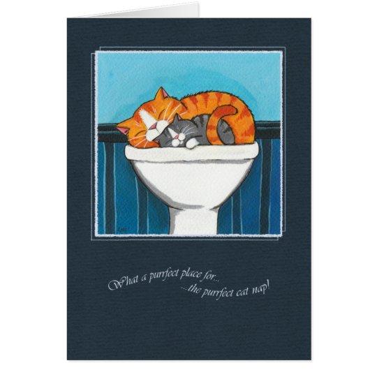 Tarjeta El lugar de Purrfect para una siesta del gato -
