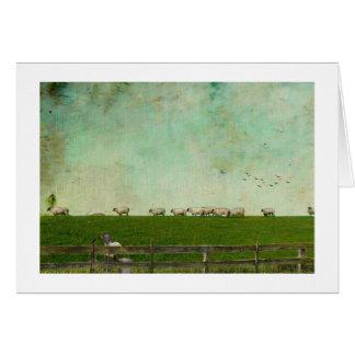 Tarjeta El marchar de las ovejas