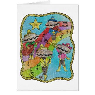 Tarjeta El Mariachi de la ostra congriega color