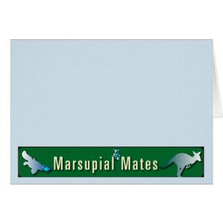 Tarjeta El marsupial acopla a Notecards