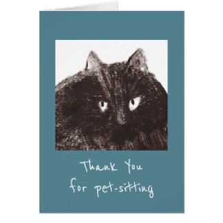 Tarjeta El Mascota-Canguro gordo del gato le agradece