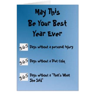 Tarjeta ¡El mejor año nunca!