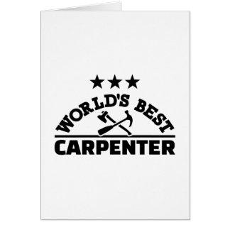 Tarjeta El mejor carpintero del mundo