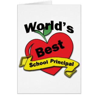 Tarjeta El mejor director de escuela del mundo