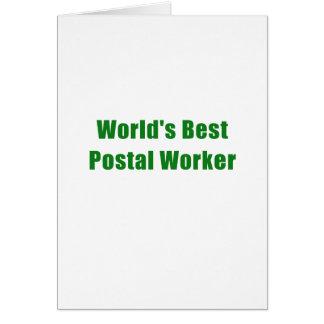 Tarjeta El mejor empleado de correos de los mundos