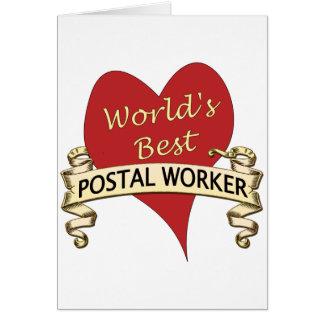 Tarjeta El mejor empleado de correos del mundo