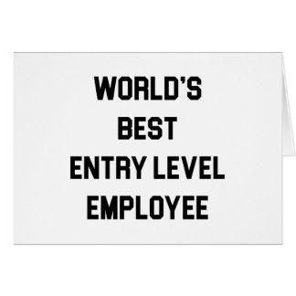 Tarjeta El mejor empleado del nivel de entrada