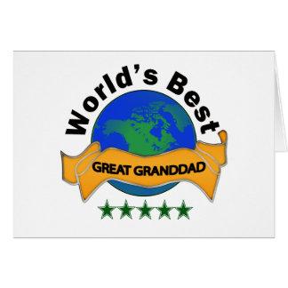 Tarjeta El mejor gran abuelo del mundo