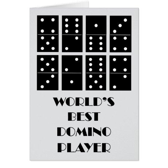 Tarjeta El mejor jugador del dominó del mundo