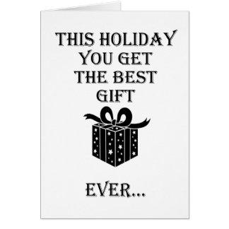 Tarjeta El mejor regalo de vacaciones