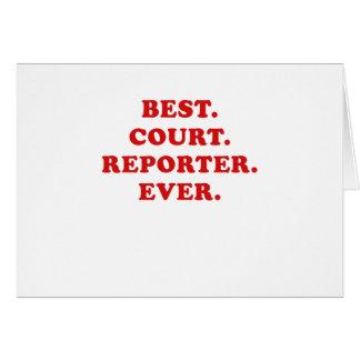 Tarjeta El mejor reportero de corte nunca