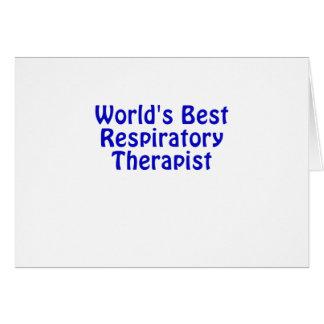 Tarjeta El mejor terapeuta respiratorio de los mundos