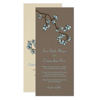 Tarjeta El melocotón azul florece Sakura que el boda