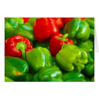 Tarjeta El mercado kc de los paprikas del granjero rojo