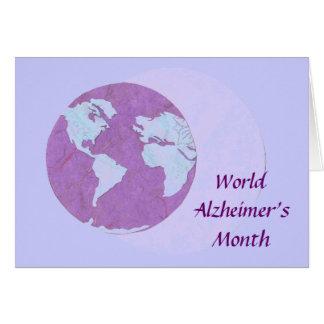 Tarjeta El mes de Alzheimer del mundo - septiembre