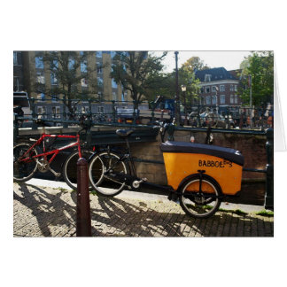 Tarjeta El minivan del niño en Amsterdam