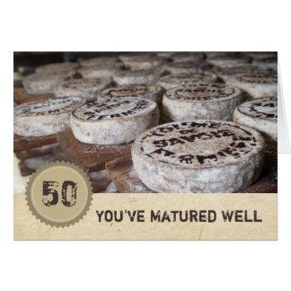 Tarjeta El mirar bueno el queso viejo del 50.o cumpleaños
