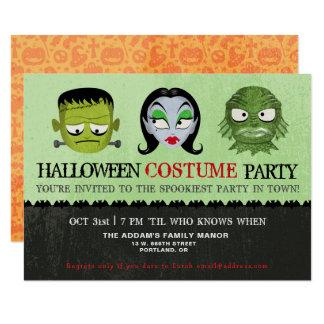 Tarjeta El monstruo del fiesta del traje de Halloween