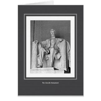 Tarjeta El monumento de Lincoln