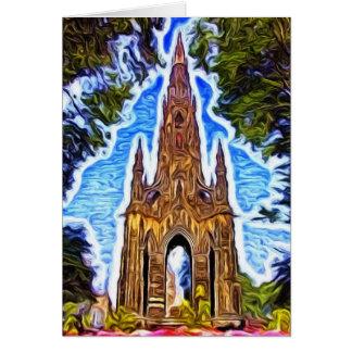 Tarjeta El monumento de Scott, Edimburgo, Escocia