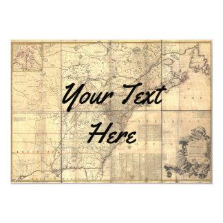 Tarjeta el mundo de la topografía del mapa invita le