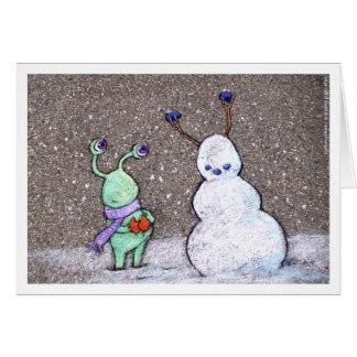 Tarjeta el muñeco de nieve de los sluggo