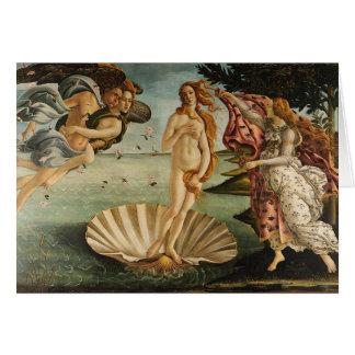 Tarjeta El nacimiento de Venus - Sandro Botticelli