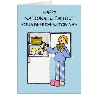 Tarjeta El nacional limpia su día del refrigerador