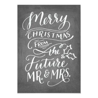 Tarjeta El navidad ahorra la fecha que ninguna mano de la