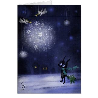 Tarjeta El navidad de Boboshkin