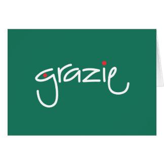Tarjeta El navidad de Grazie le agradece en cualquier