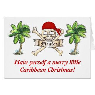 Tarjeta El navidad del Caribe del pirata
