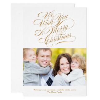 Tarjeta El navidad desea el oro/el blanco del |