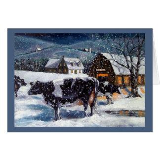 Tarjeta El navidad en el país, Hostein acobarda la pintura