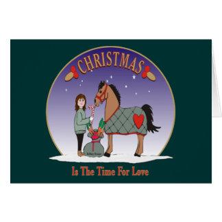 Tarjeta El navidad es la época para el amor