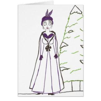 Tarjeta El navidad espeluznante de Jane Austen