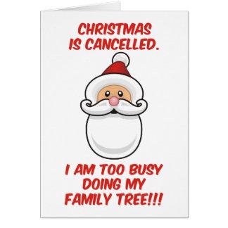 Tarjeta El navidad está cancelado
