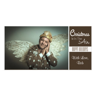 Tarjeta El navidad está en el aire (sea un ángel)