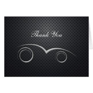 Tarjeta El negocio automotriz del tema le agradece las