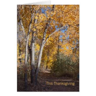 Tarjeta El negocio de maderas del otoño le agradece