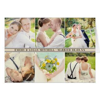 Tarjeta El negro del collage el | de la foto del boda le