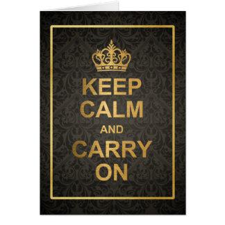 Tarjeta El negro y el oro guardan calma y continúan