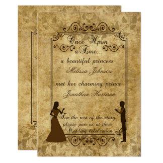 Tarjeta El novio de la novia del boda del vintage sobre