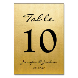 Tarjeta El número de la tabla de la recepción nupcial del