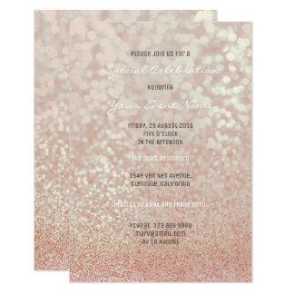 Tarjeta El oro color de rosa rosado se ruboriza brillo