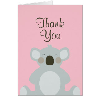 Tarjeta El oso de koala lindo le agradece cardar