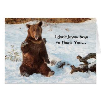Tarjeta El oso que habla lindo le agradece
