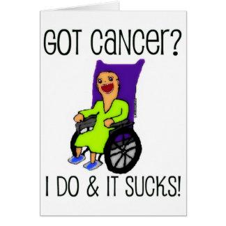 Tarjeta El paciente enojado consiguió al cáncer